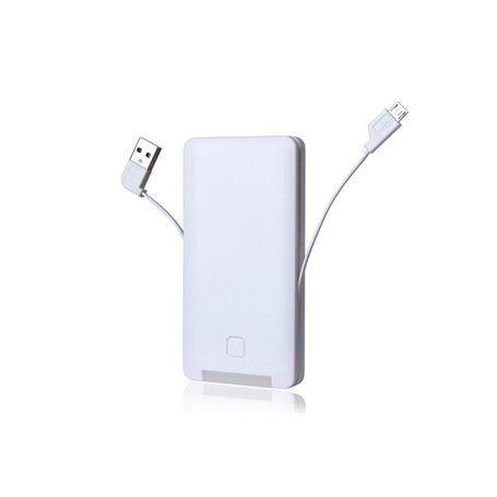 Bateria externa portátil 6000 mAh, tudo em um para Android e Apple Doca - 1