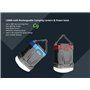 Linterna de camping a prueba de agua y batería externa portátil 13000 mAh Abest - 6