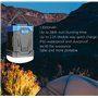 Linterna de camping a prueba de agua y batería externa portátil 13000 mAh Abest - 9