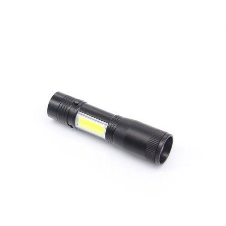 LED Doppeltaschenlampe Taschenlampe CREE XPE & COB Aufladen ... Hailite - 1
