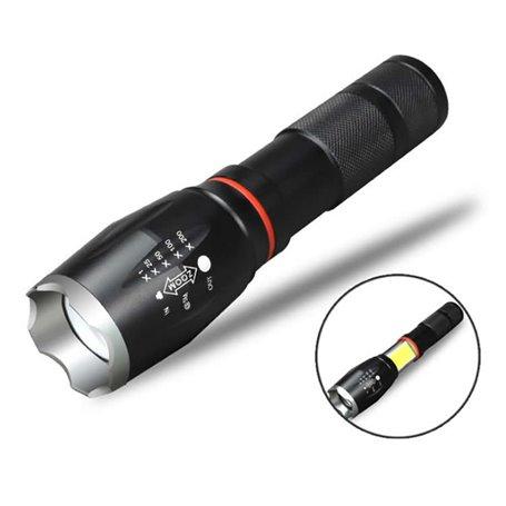 LED CREE T6 & COB oplaadbare zaklamp met dubbel licht Hailite - 1