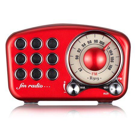 Alto-falante Bluetooth com design retro e rádio FM R919-B Fuyin - 1