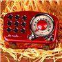 Alto-falante Bluetooth com design retro e rádio FM R919-B Fuyin - 8