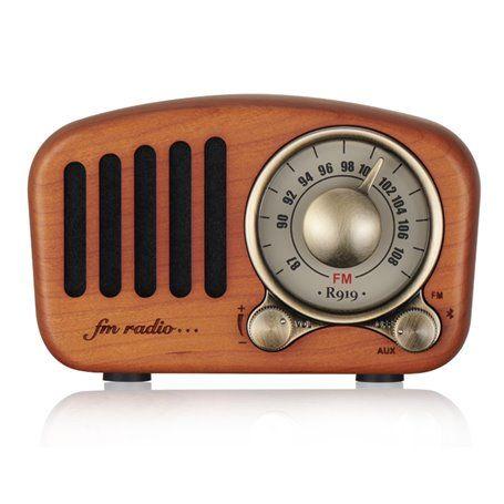 Mini Haut-Parleur Bluetooth Design Rétro et Radio-FM