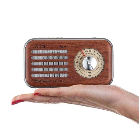 Mini Haut-Parleur Bluetooth Design Rétro et Radio-FM R922-A Fuyin - 1