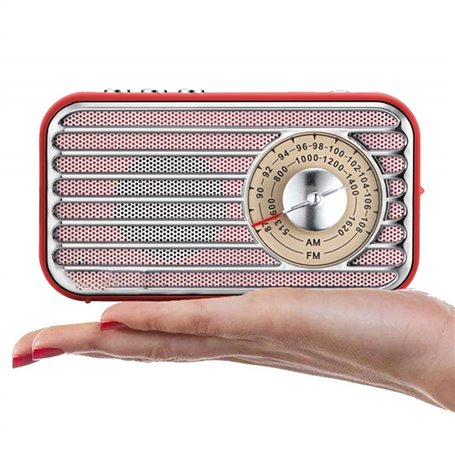 Mini Retro Design Bluetooth-luidspreker en FM-radio R922-B Fuyin - 1