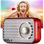 Alto-falante Bluetooth com design retro e rádio FM R922-B Fuyin - 17