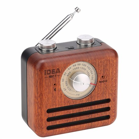 Alto-falante Bluetooth com design retro e rádio FM R917-A Fuyin - 4