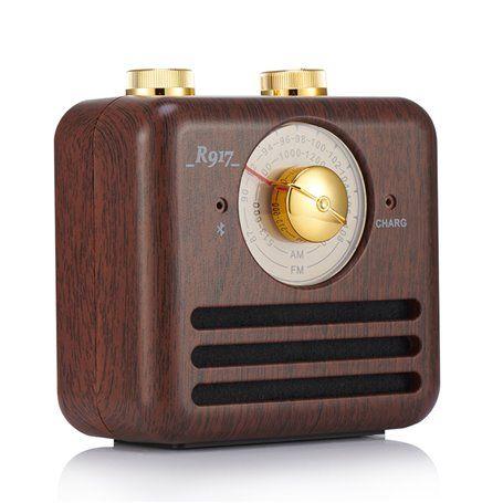 Alto-falante Bluetooth com design retro e rádio FM R917-B Fuyin - 1