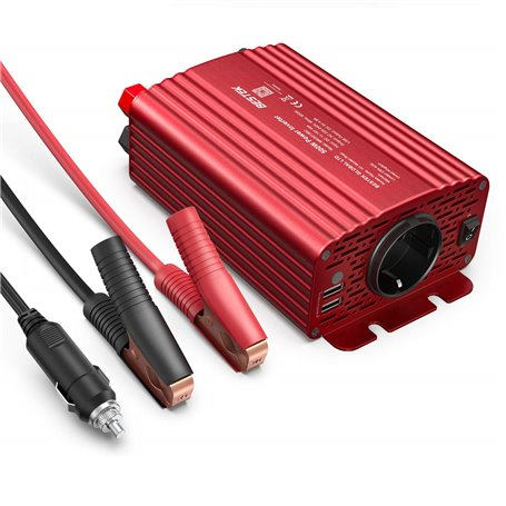 Car Power Inverter with 250VAC and USB 5VDC Plugs 500 Watts