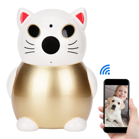 Lucky Cat 2.0 Megapixel Full HD Smart Infrarood Wifi HD-IP Camera 1920x1080p GatoCam - 1