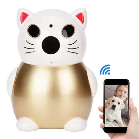 Telecamera HD-IP Wifi Lucky Cat 2.0 Megapixel a infrarossi ... GatoCam - 1