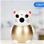 Telecamera HD-IP Wifi Lucky Cat 2.0 Megapixel a infrarossi ... GatoCam - 8