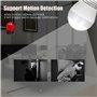 Lampada a LED con telecamera spia 2.0 Megapixel Wifi con visione panoramica Full HD 1920x1080p GA-A9R GatoCam - 3