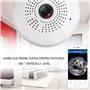 Lampada a LED con telecamera spia 2.0 Megapixel Wifi con visione panoramica Full HD 1920x1080p GA-A9R GatoCam - 2