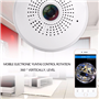 Lâmpada LED com câmera espiã de 2,0 megapixels Wifi com visão panorâmica Full HD 1920x1080p GA-A9R GatoCam - 2