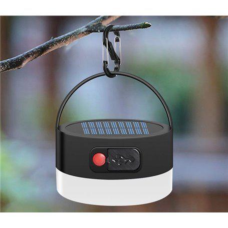 Słoneczna latarnia kempingowa z oświetleniem LED i przenośnym akumulatorem zewnętrznym 2000 mAh Jufeng - 1