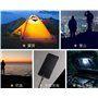 Lanterna de acampamento solar com iluminação LED e bateria externa ... Jufeng - 5